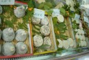 DSC00847: Goat cheeses at the market