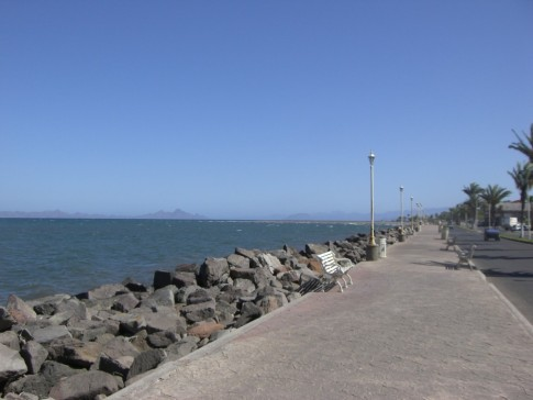 The malecon in Loreto.