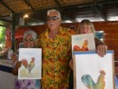 La Paz Bay Fest:  results from the water colour painting class