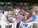 We enjoyed a wonderful seafood lunch with our taxi driver and wife at a beach side cantina in Potosi.  (Gerardo and Marie)