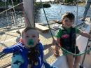 My Grandsons: Charlie (2) and Elmer (4) - real sailors!