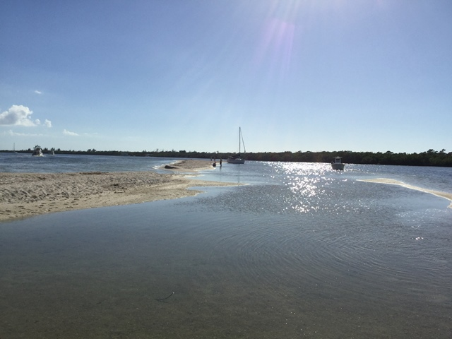 Sand Bar at Entry to Pelican Bay