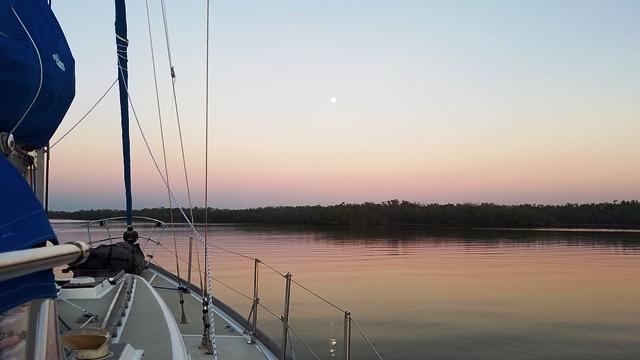 Looking East - Full Moon tomorrow
