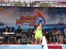 Entertainment at the Derawan Festival.  Big stage and LOUD music.
