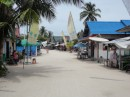Down the main street in Derawan.  No pavement needed.
