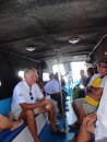 In the water taxi from Derawan to Berau.  It shook you up down to the core.