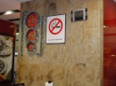 No smoking at Pizza Hut.