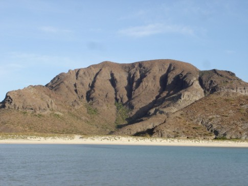 Mountains on the East shoreline of Puerto Ballandra.