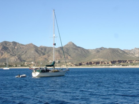 At anchor in Los Frailes.