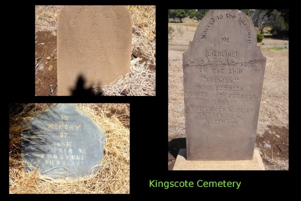 Some of the headstones