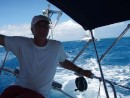 Cpt Greg easily passes a 52 ft catamaran in the race: Passing a 45