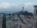 Coit Tower view from cable car.
