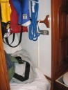 Shower/sail locker