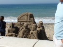 Sand castles on the Malecon