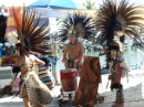 This was actually on Christmas Day in La Cruz. Native dancers...