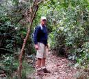 ELEPHANT PATH: Our route in was a narrow elephant path with dense jungle on each side. We were counting on not meeting an elephant on the elephant path...