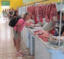 The meat market in Breves.