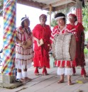 These Amerindian ladies chanted and drummed for the KETI KOTI celebrants.