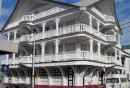 Although this is a new building, constructed in concrete, it has the design of a 100 year-old wood frame hotel.  Paramaribo has gone to great lengths, and quite some cost, to retain the charm of its old-world Dutch Colonial architecture.
