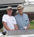 Warren Luhrs with Tom.  Warren is a world record holder single-handed sailor, and he and his brother John own the St. Augustine Marine Center.