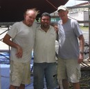 Old Bill the Power Boat guy, Shawn the fiberglass contractor (First Choice Inc.), and Tom.