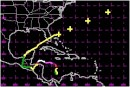 The track of Hurricane Mitch as it regained strength and sped to the northeast, and a rendezvous with S/V Kampeska...