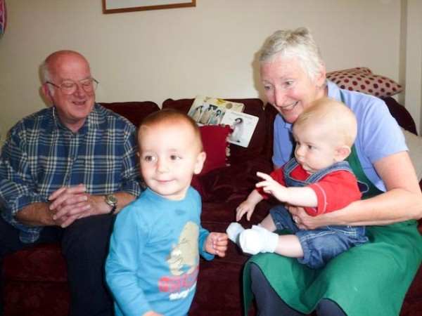 Stan with grand parents and Oliver
