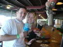 Our 1st fun tropical drinks in Belize...Ask Chris or Kristen about their blue tongues!