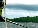 "Cool water spout captured by Kay on ""Grace"" entering Isla de Ray"