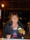 Elaine trying out her first margarita, more followed