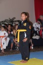 Anne attending her first martial arts tournament in Cancun.