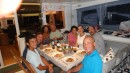 French dinner on board with Joe, the Bacons and the Durans.
