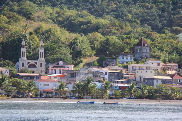Le Precheur, last village on the west coast, then the Channel to Dominica
