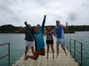 On the jumping bridge at Xel-Ha with Shelley and Jai