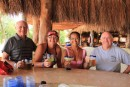 At the Corona Garden bar in Xel-Ha. Can you tell we like it?