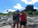 Marie Suzanne and I went for an early morning ruins visit in Tulum