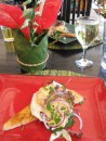 Christmas lunch entree of Egg Benedicte Bequia style