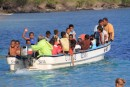 last day of school, boat shuttle taking the kids home to the other side of the island in Waya
