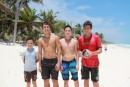 Marc and friends in Tulum