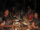 Diner with fellow cruisers in Pointe a Pitre
