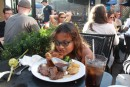 Roast beef and yorkshire pudding, turns out to be prime rib and giant popover! Savannah, GA