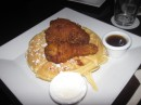 Sensitive stomachs beware, fried chicken on a waffle with maple syrup and whipped cream coming up!!! Washington, DC