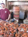 Steamed crabs at the fish market. Washington, DC