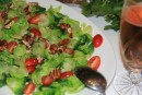 My absolute favourite salad: brussel sprout salad, cherry tomatoes and candied pecans.