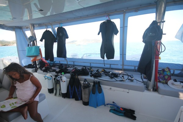All geared up for scuba diving now!
