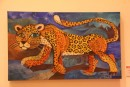Jaguar painting, City Museum, Merida. The jaguar is a sacred animal in Maya culture