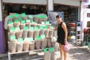 Visiting the Cancun market with Patrycja (friend from P.A)