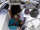 Everyday chores on the high seas....doing laundry.
