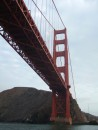 Going under the Golden Gate Bridge