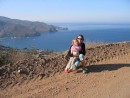 Anne and Kara overlooking Two Harbors, Catalina Island